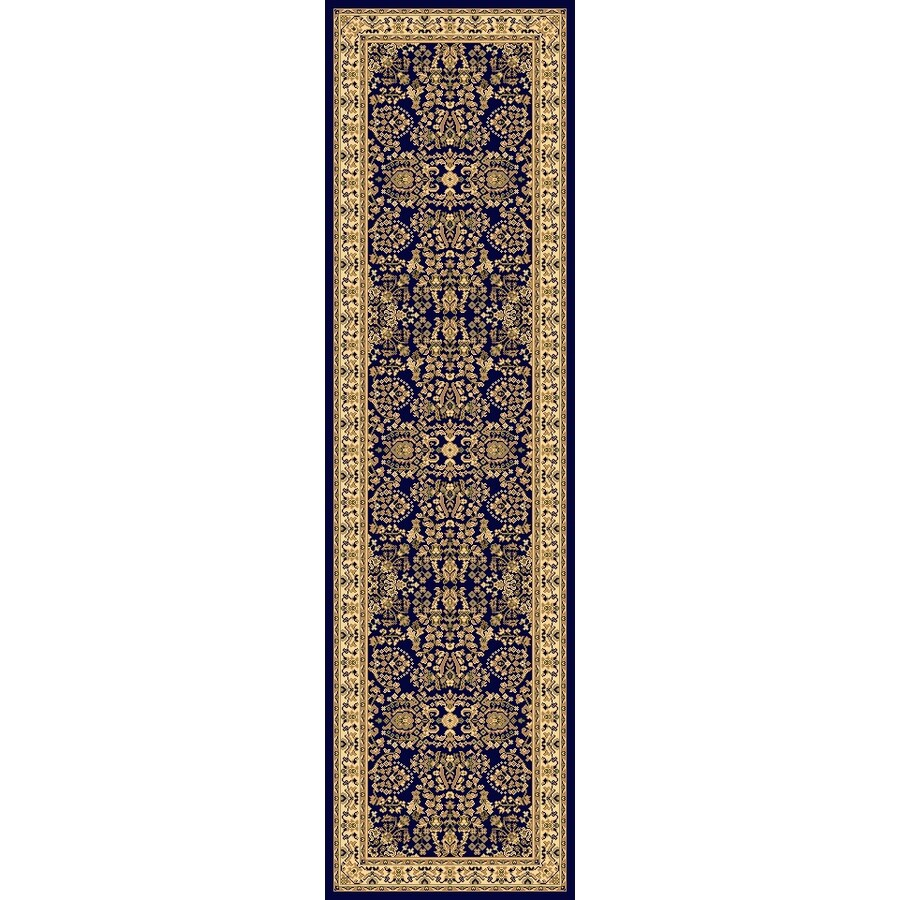 Rugs America New Vision Blue Woven Runner (Common: 2-ft x 8-ft; Actual: 2.25-ft x 7.833-ft)
