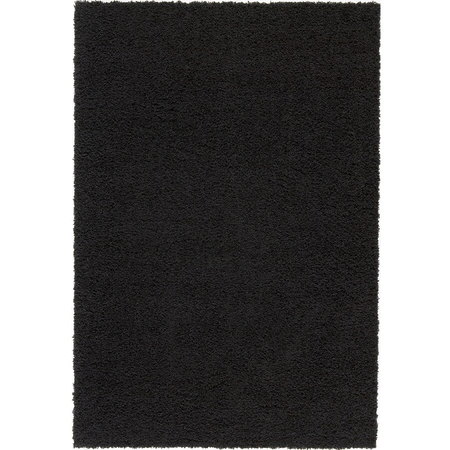 Shop Rugs America Vero Beach Rectangular Black Solid Woven