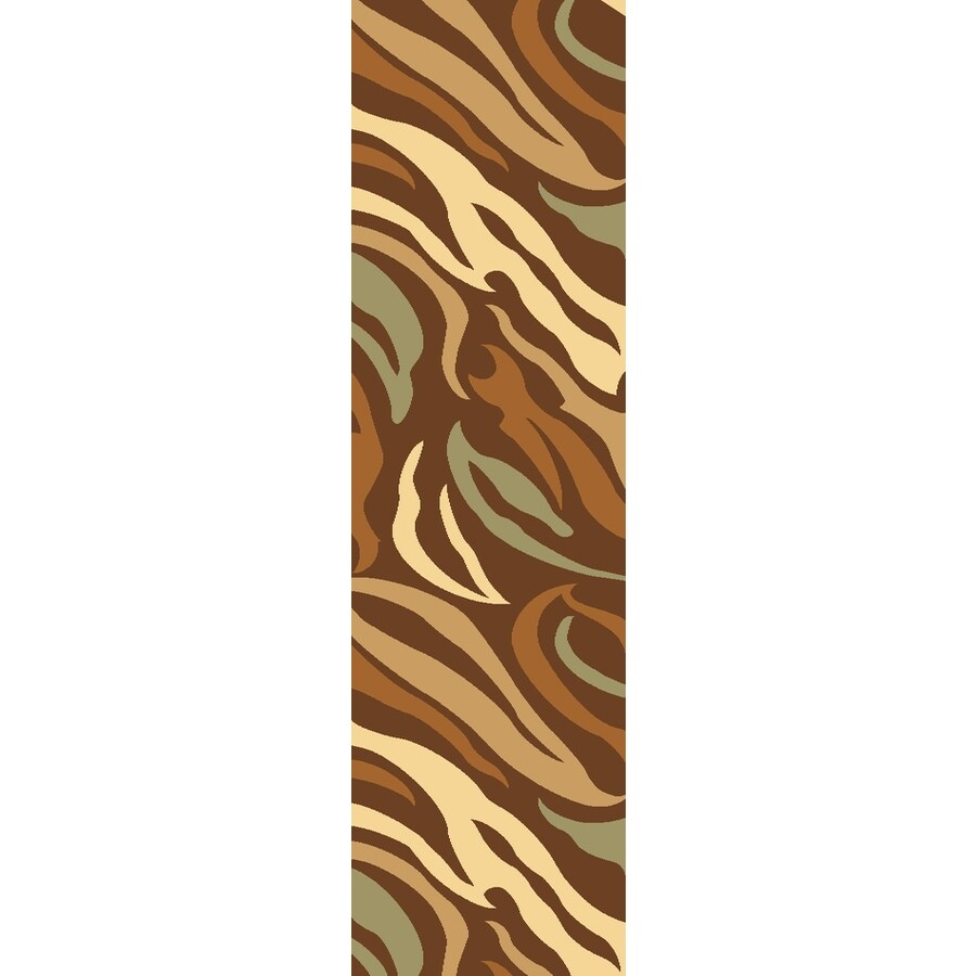 Rugs America Torino Brown Woven Runner (Common: 2-ft x 8-ft; Actual: 2.25-ft x 7.833-ft)