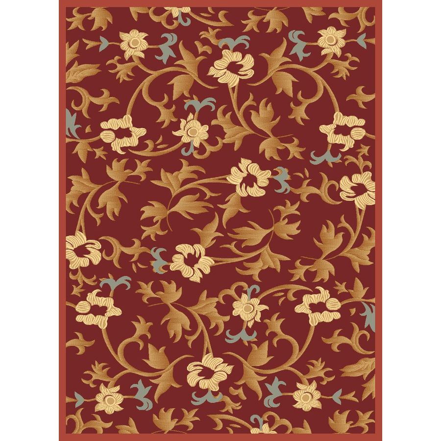 Rugs America Torino Rectangular Red Transitional Woven Area Rug (Common: 4-ft x 6-ft; Actual: 3.91-ft x 5.25-ft)