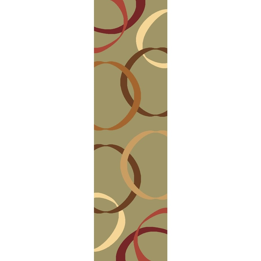 Rugs America Torino Ribbons Light Green Rectangular Indoor Woven Runner (Common: 2 x 8; Actual: 27-in W x 94-in L)