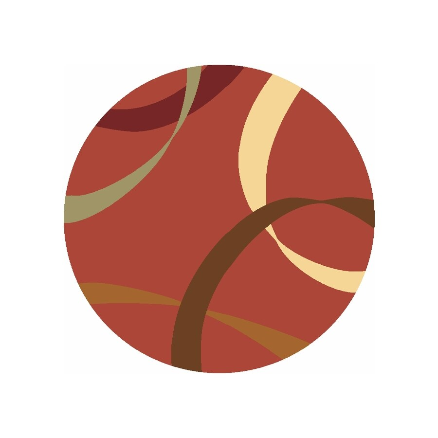 Rugs America Torino Ribbons Rose Round Indoor Woven Area Rug (Actual: 5.25-ft Dia)