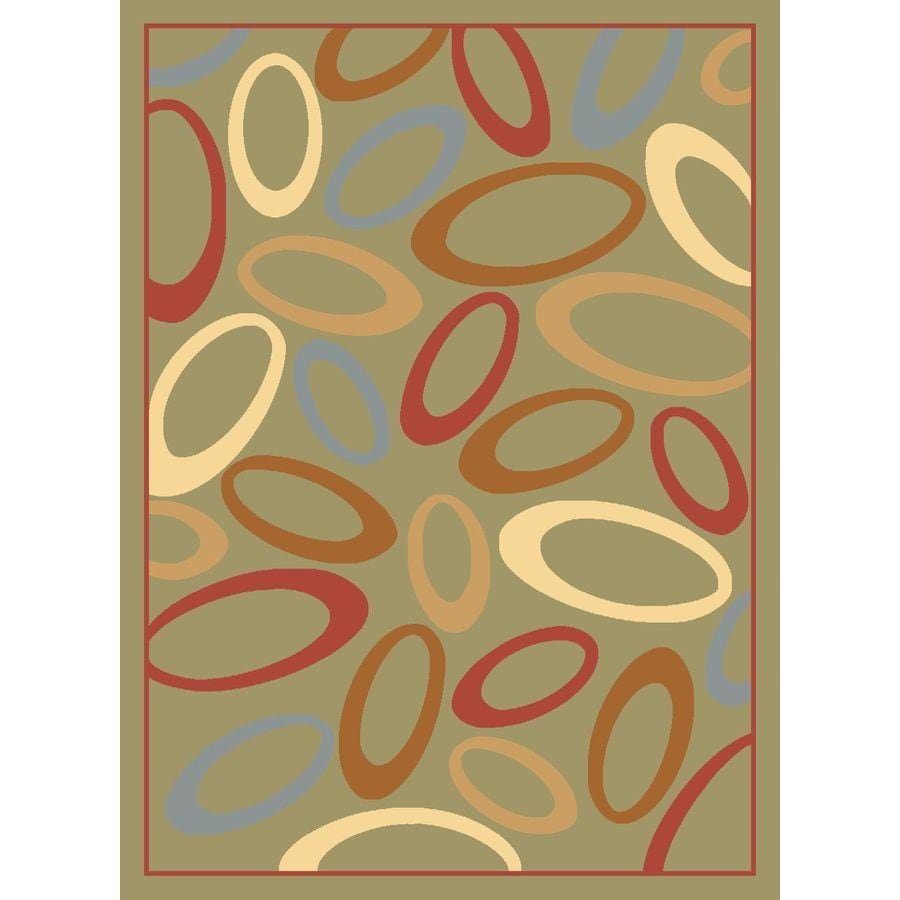 Rugs America Torino Circles Light Green Rectangular Indoor Woven Throw Rug (Common: 2 x 3; Actual: 24-in W x 35-in L)