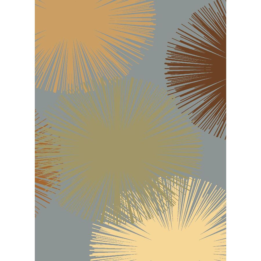 Rugs America Torino Rectangular Blue Transitional Woven Area Rug (Common: 4-ft x 6-ft; Actual: 3.91-ft x 5.25-ft)