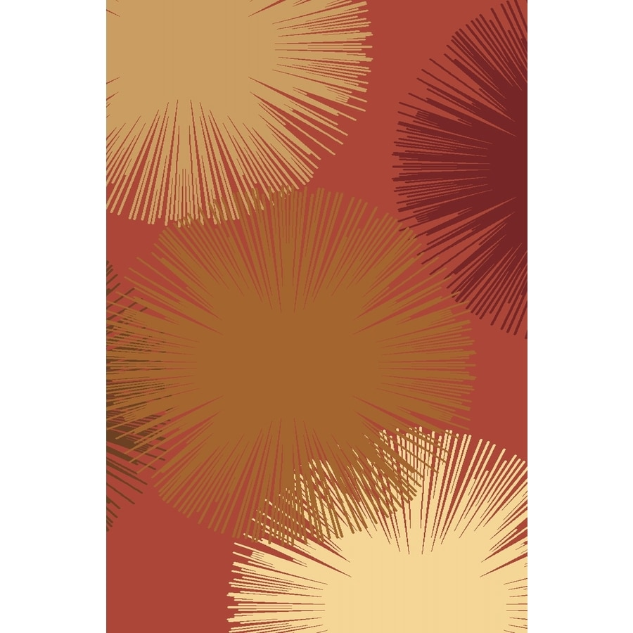 Rugs America Torino Fireworks Rose Rectangular Indoor Woven Area Rug (Common: 5 x 8; Actual: 63-in W x 94-in L)