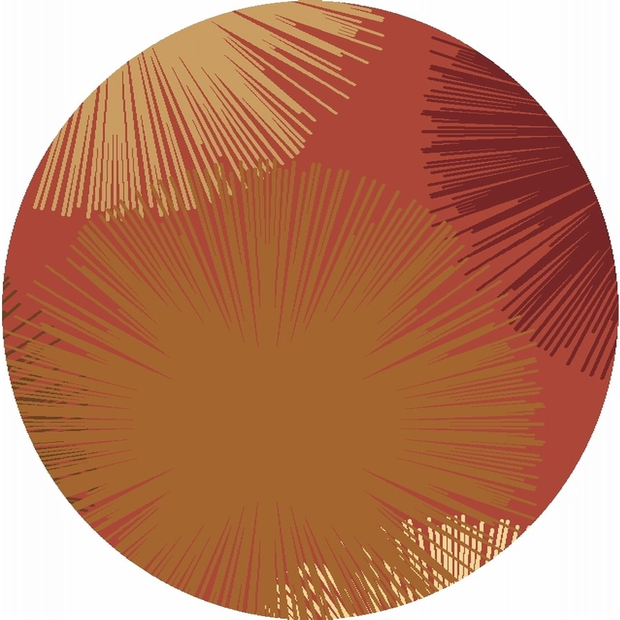 Rugs America Torino Fireworks Rose Round Indoor Woven Area Rug (Actual: 5.25-ft Dia)