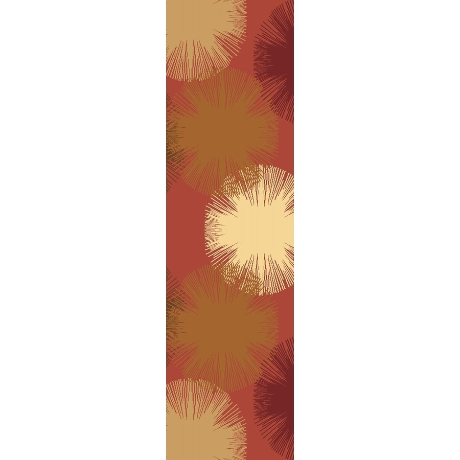 Rugs America Torino Fireworks Rose Rectangular Indoor Woven Runner (Common: 2 x 8; Actual: 27-in W x 94-in L)