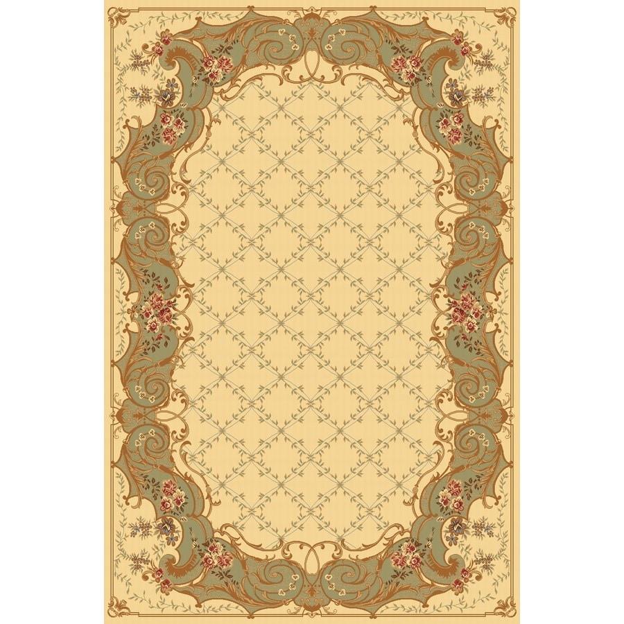 Rugs America New Vision 3-ft 11-in x 5-ft 3-in Rectangular Green Floral Area Rug