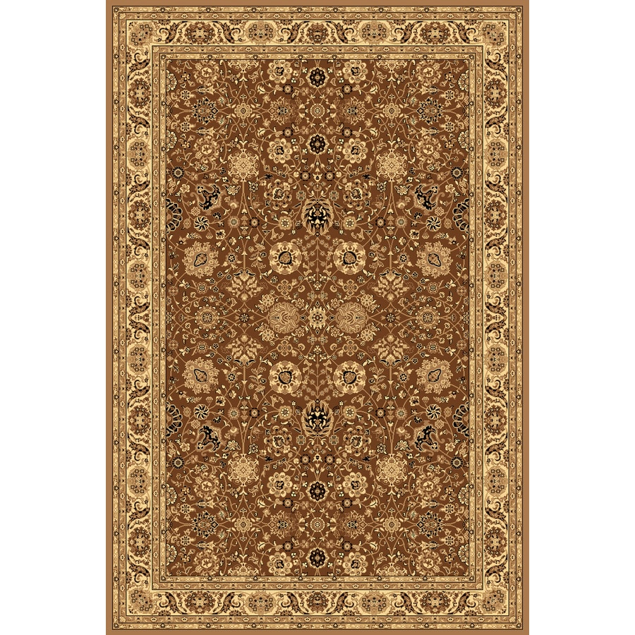 shop rugs america new vision tabriz brown rectangular