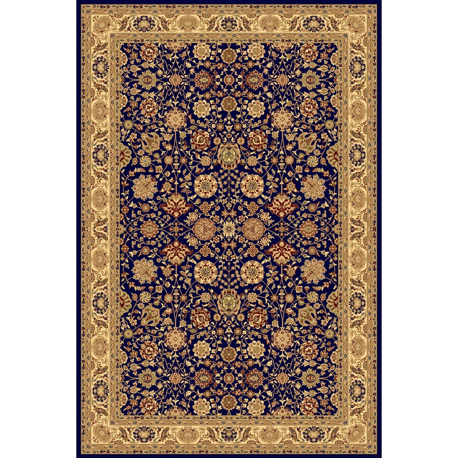 Shop rugs america new vision tabriz navy rectangular for Common throw rug sizes