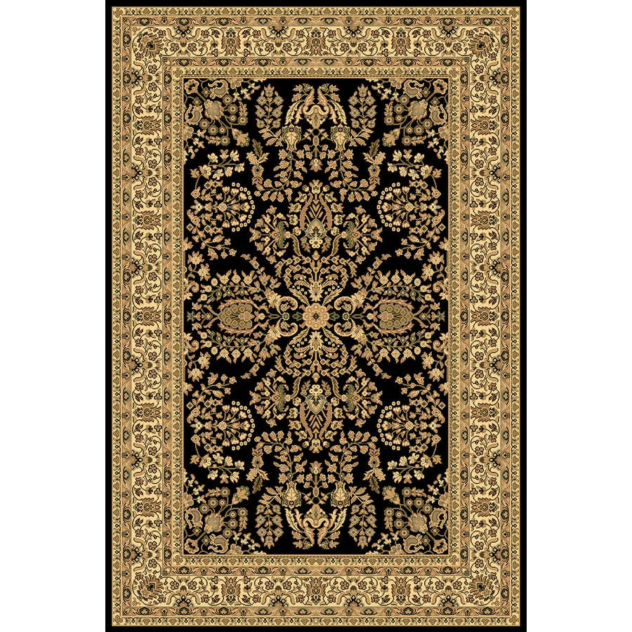 Rugs America New Vision Lilihan Black Rectangular Indoor Woven Throw Rug (Common: 2 x 3; Actual: 24-in W x 35-in L)
