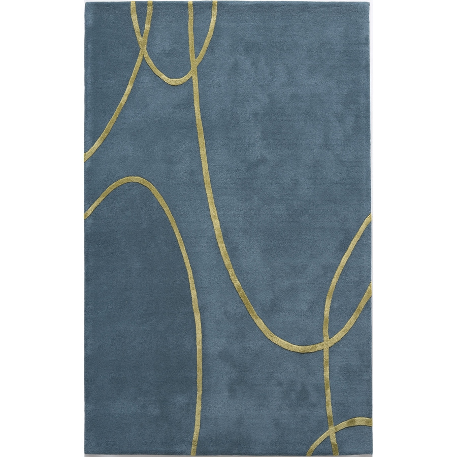 Rugs America Millennium Electric Blue Rectangular Indoor Tufted Area Rug (Common: 5 x 8; Actual: 60-in W x 96-in L)