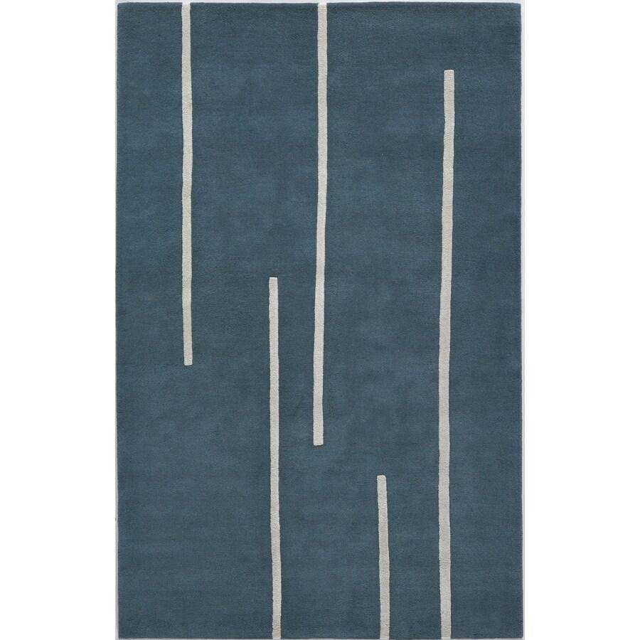 Rugs America Millennium Toronto Blue Rectangular Indoor Tufted Area Rug (Common: 4 x 6; Actual: 48-in W x 72-in L)