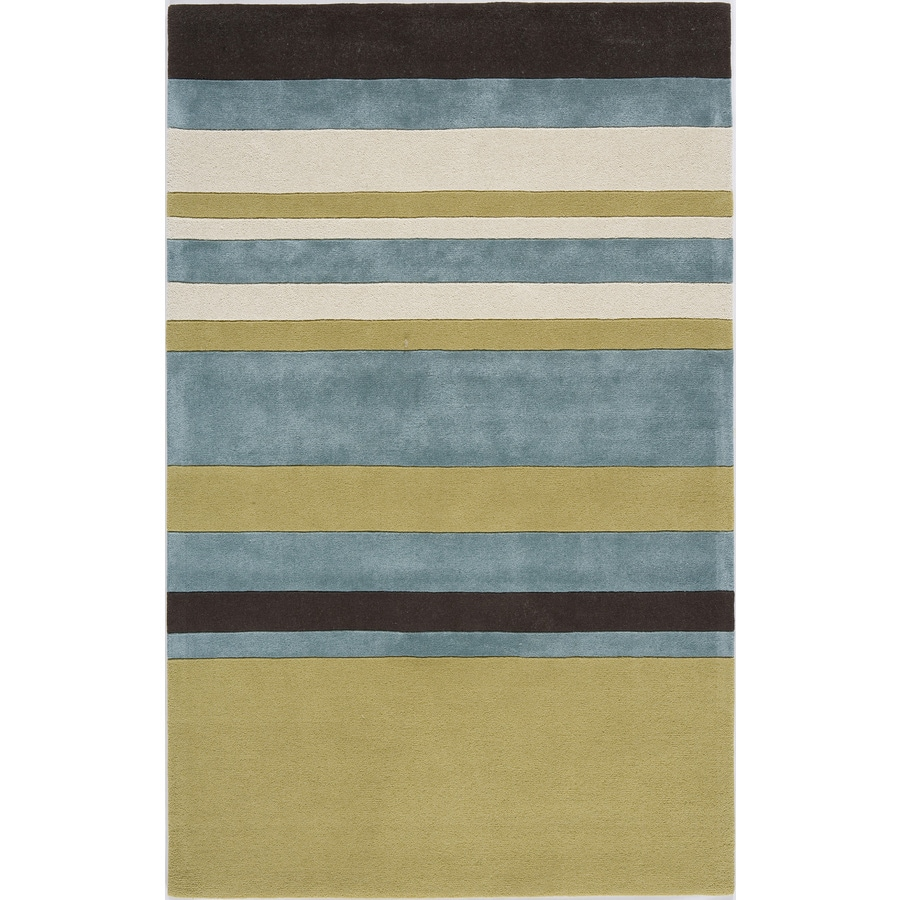 Rugs America Millennium Cool Tropics Rectangular Indoor Tufted Area Rug (Common: 7 x 9; Actual: 84-in W x 108-in L)