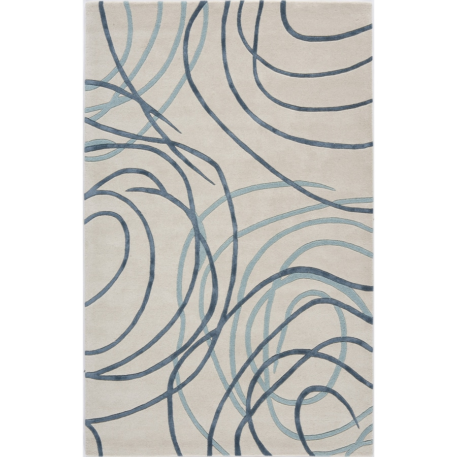 Rugs America Millennium Patriotic Blue Rectangular Indoor Tufted Area Rug (Common: 8 x 11; Actual: 96-in W x 132-in L)
