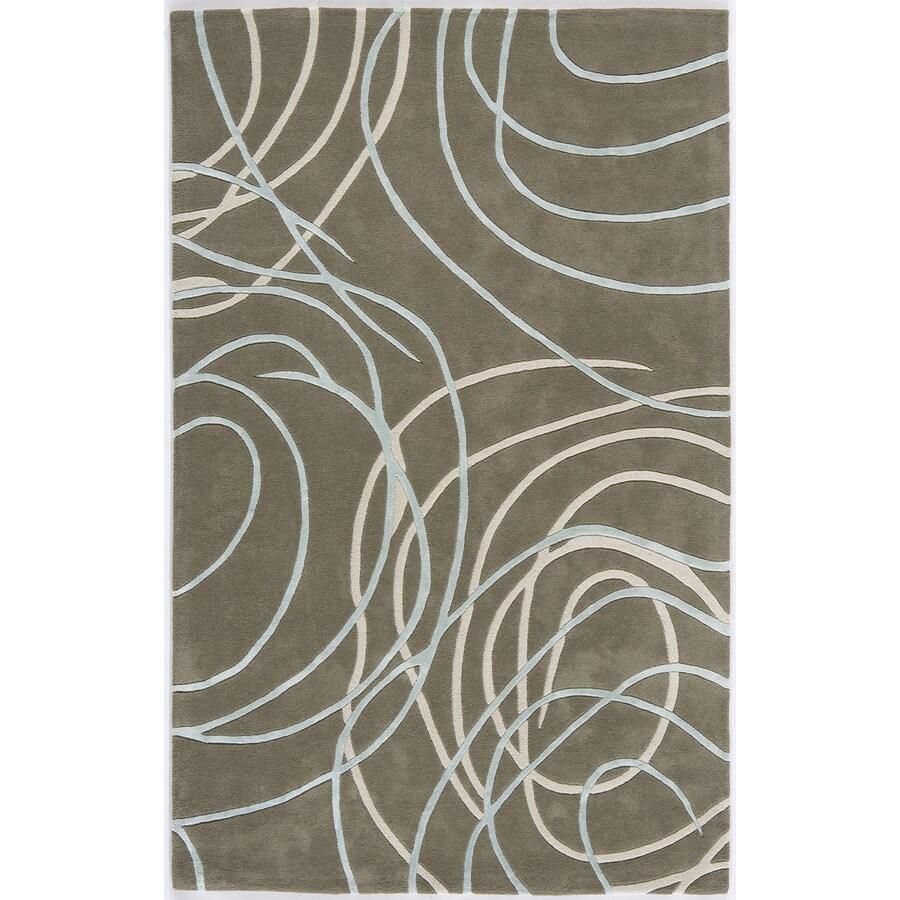 Rugs America Millennium Horizon Gray Rectangular Indoor Tufted Area Rug (Common: 8 x 11; Actual: 96-in W x 132-in L)