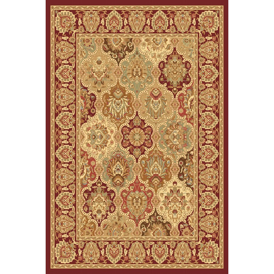 Rugs America New Vision Rectangular Red Floral Woven Area Rug (Common: 5-ft x 8-ft; Actual: 5.25-ft x 7.83-ft)