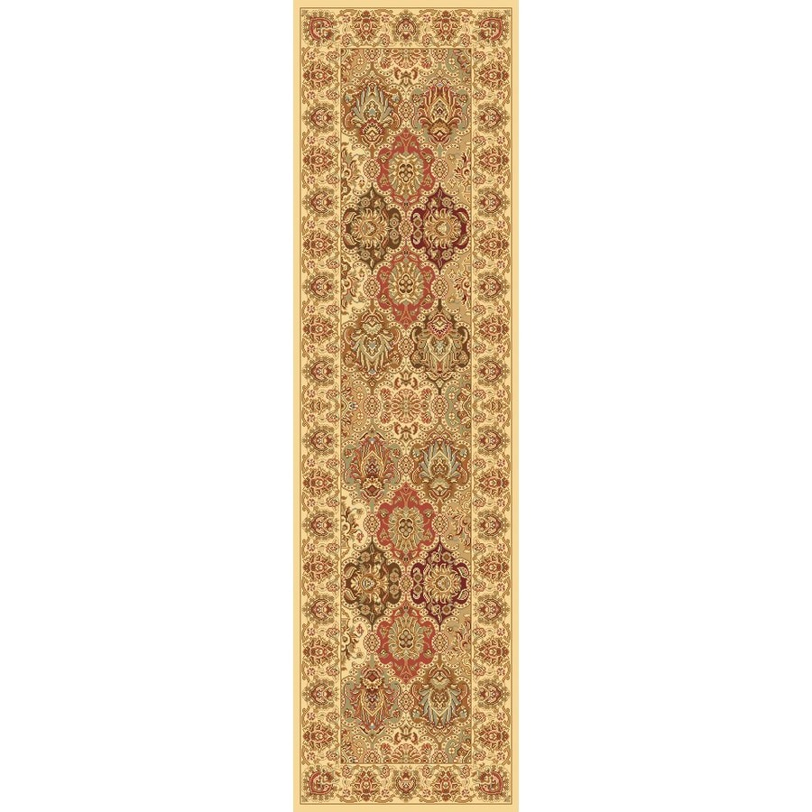 Rugs America New Vision Panel Cream Rectangular Indoor Woven Runner (Common: 2 x 8; Actual: 27-in W x 94-in L)