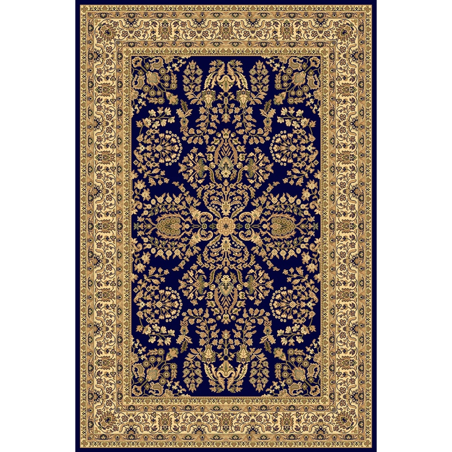 Rugs America New Vision Lilihan Navy Rectangular Indoor Woven Area Rug (Common: 9 x 12; Actual: 118-in W x 158-in L)