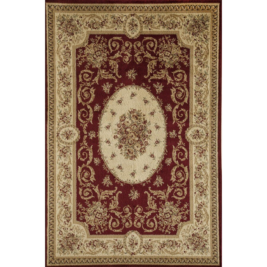 Rugs America Sorrento Medallion Red Rectangular Indoor Woven Area Rug (Common: 5 x 8; Actual: 63-in W x 94-in L)