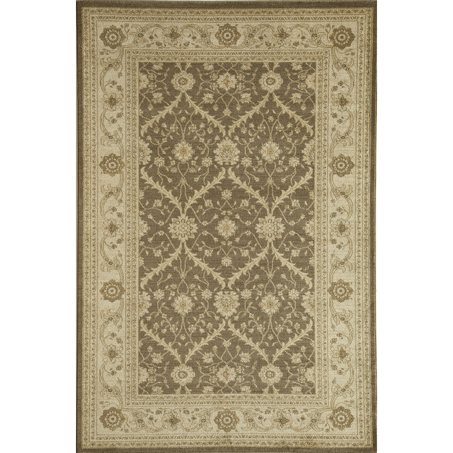 Rugs America Peshawar Trellis Brown Rectangular Indoor Woven Area Rug (Common: 7 x 10; Actual: 79-in W x 114-in L)