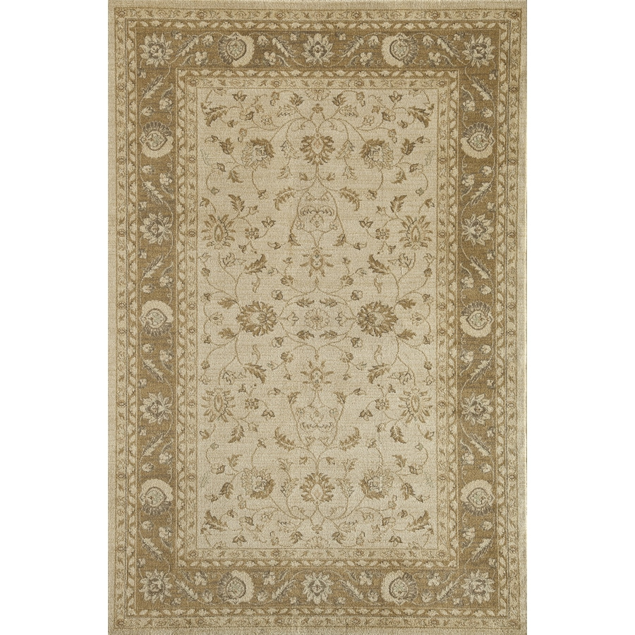 Rugs America Peshawar Overall Cream Rectangular Indoor Woven Area Rug (Common: 8 x 11; Actual: 94-in W x 130-in L)