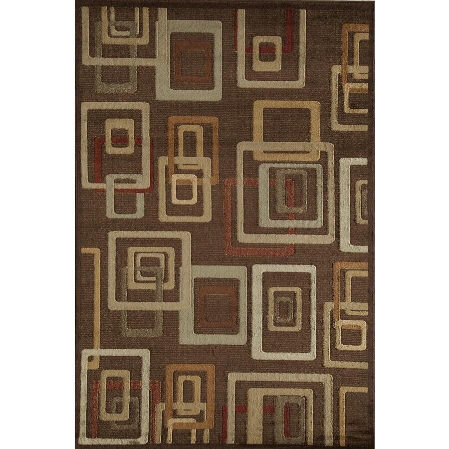 Rugs America Capri Brandy Rectangular Indoor Woven Area Rug (Common: 8 x 11; Actual: 94-in W x 130-in L)