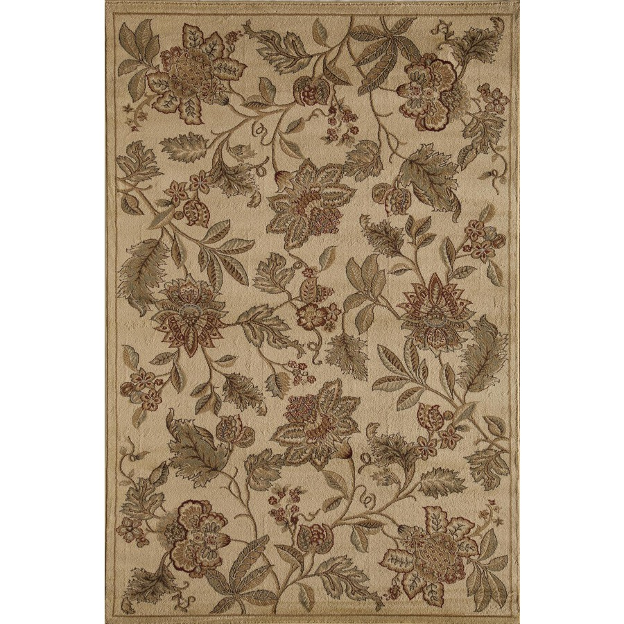 Rugs America Capri Orchid Cream Rectangular Indoor Woven Area Rug (Common: 4 x 6; Actual: 47-in W x 63-in L)