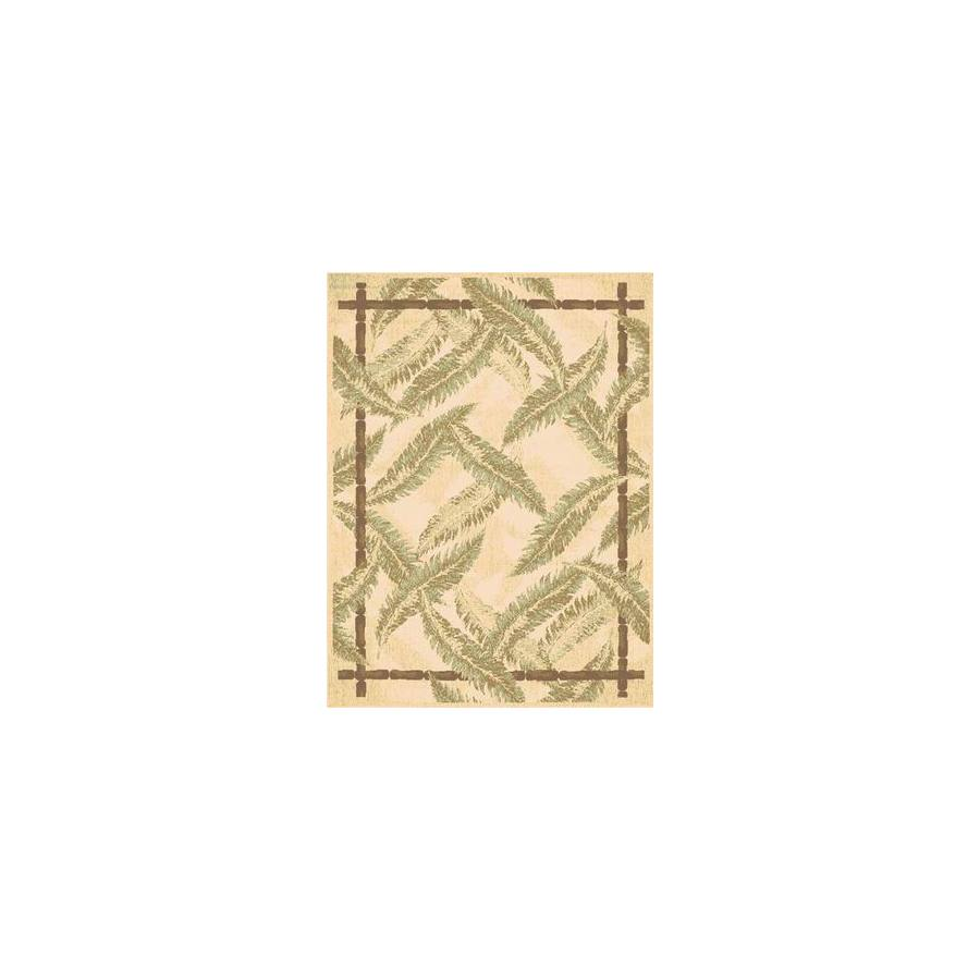 Rugs America Tropics Tranquil Bay Rectangular Indoor Woven Area Rug (Common: 5 x 8; Actual: 63-in W x 94-in L)