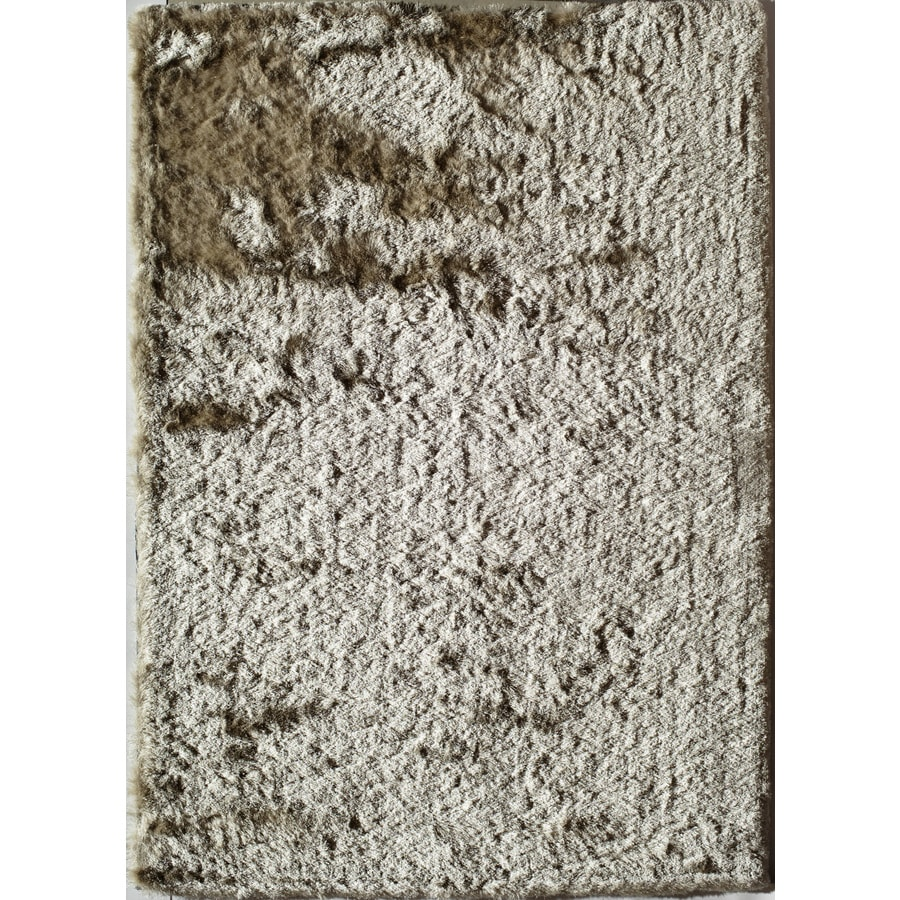 Rugs America Luster Shag Ivory Coast Rectangular Indoor Tufted Area Rug (Common: 7 x 9; Actual: 84-in W x 108-in L)