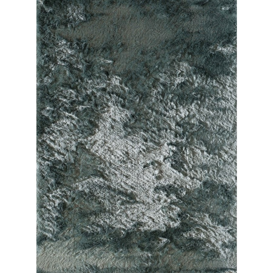 Rugs America Luster Shag Powder Blue Rectangular Indoor Tufted Area Rug (Common: 5 x 7; Actual: 60-in W x 84-in L)