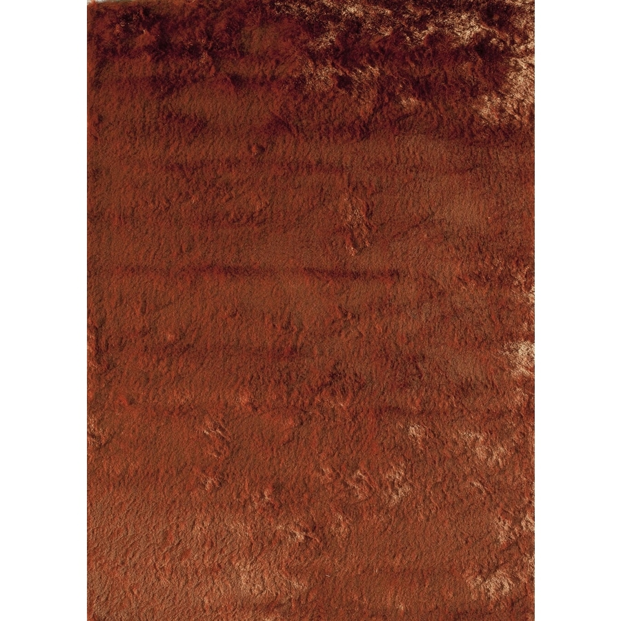 Rugs America Luster Shag Burnt Orange Rectangular Indoor Tufted Throw Rug (Common: 1-1 and 2 x 2-1 and 2; Actual: 18-in W x 27-in L)