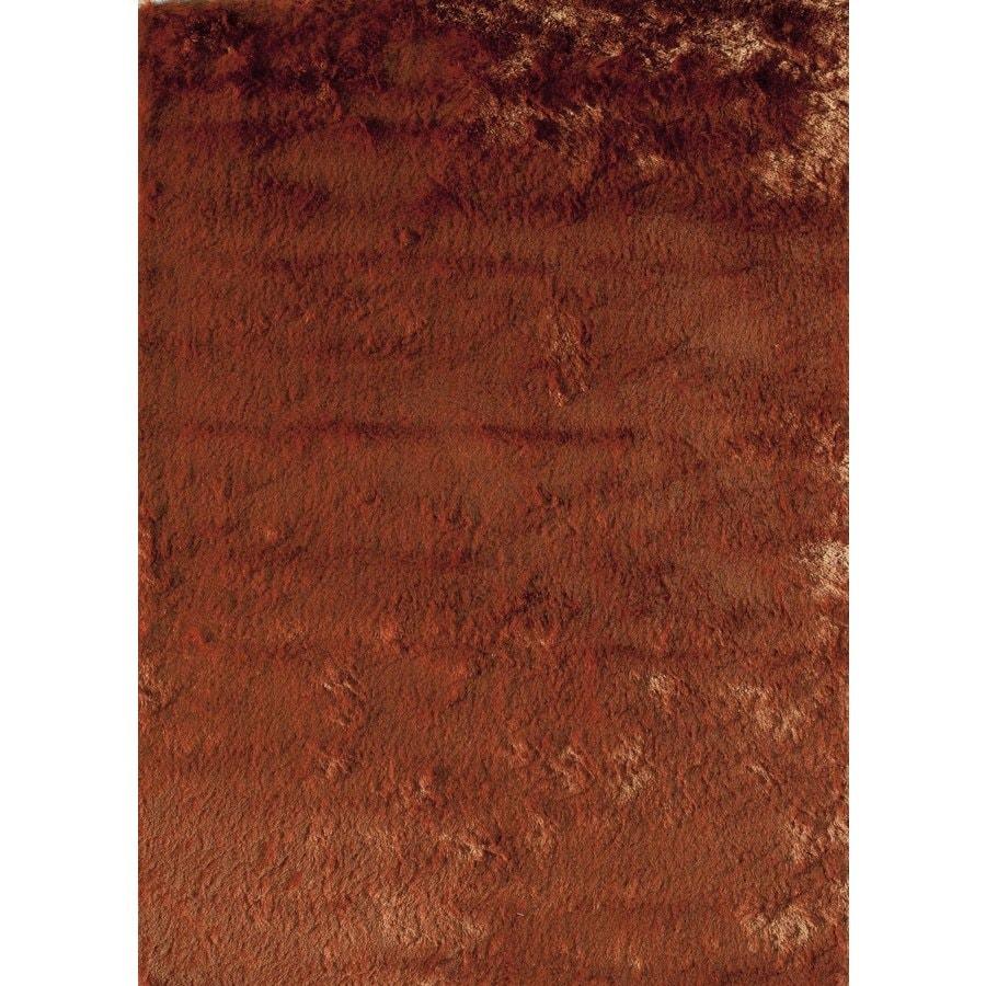 Rugs America Luster Shag Burnt Orange Rectangular Indoor Tufted Area Rug (Common: 7 x 9; Actual: 84-in W x 108-in L)