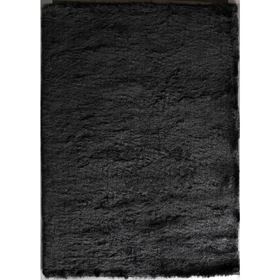 Rugs America Luster Shag Steel Gray Rectangular Indoor Tufted Throw Rug (Common: 1-1 and 2 x 2-1 and 2; Actual: 18-in W x 27-in L)