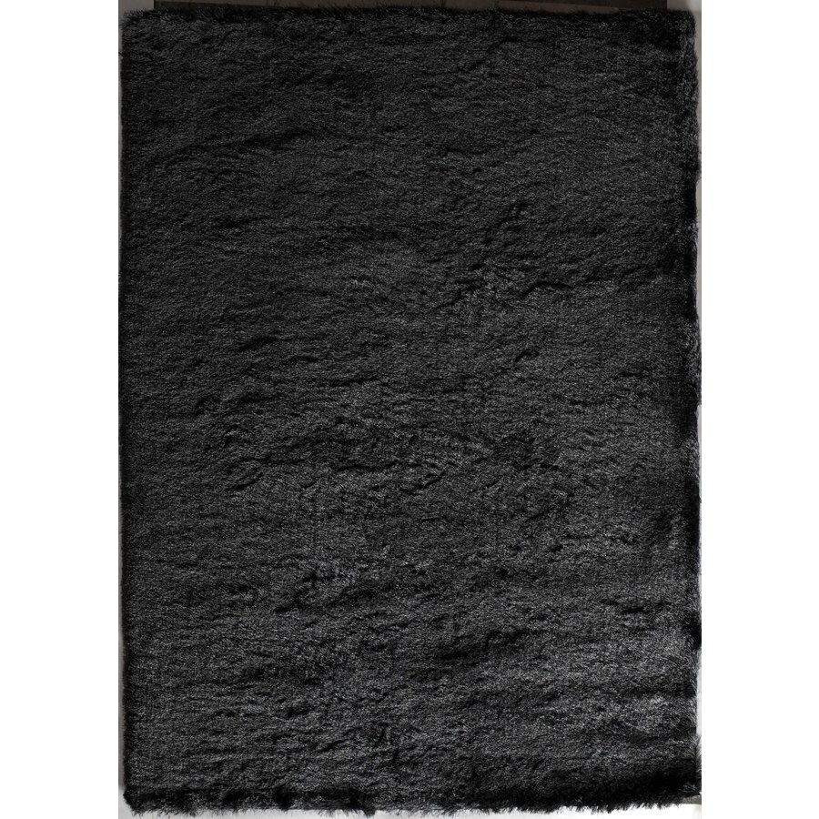 Rugs America Luster Shag Steel Gray Rectangular Indoor Tufted Area Rug (Common: 5 x 7; Actual: 60-in W x 84-in L)