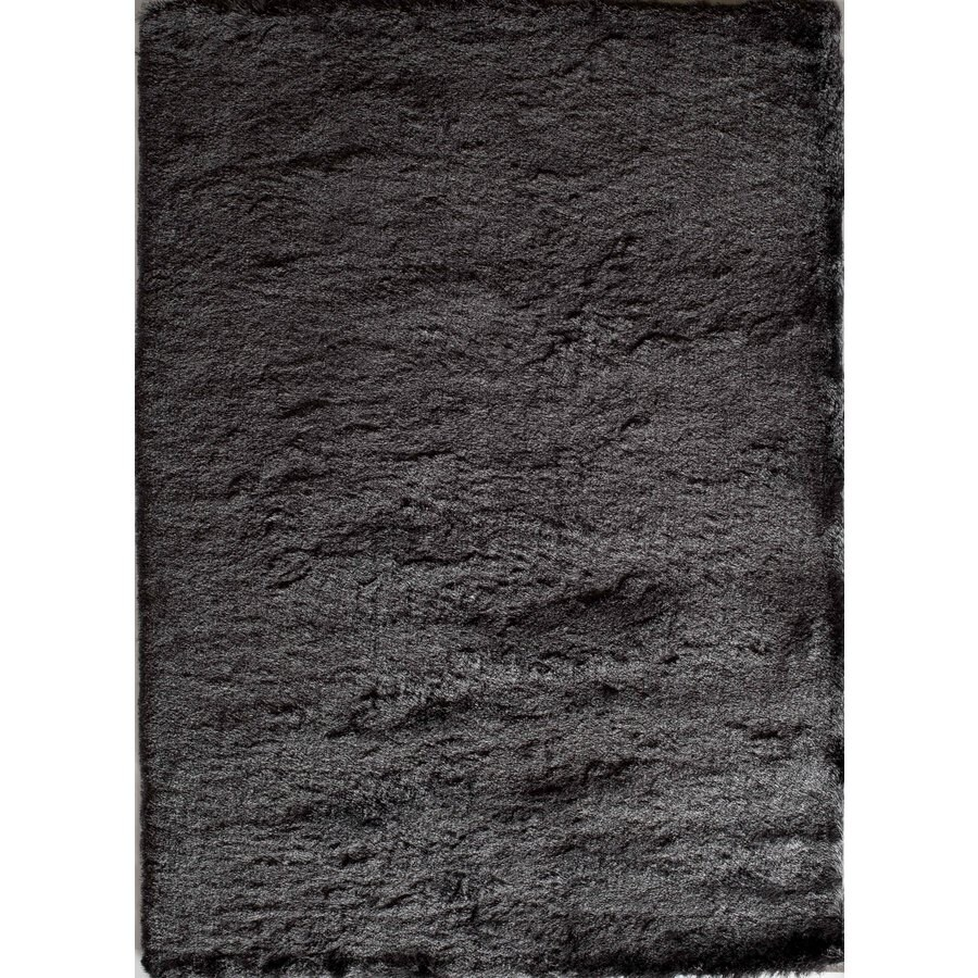 Shop Rugs America Luster Shag Charcoal Rectangular Indoor