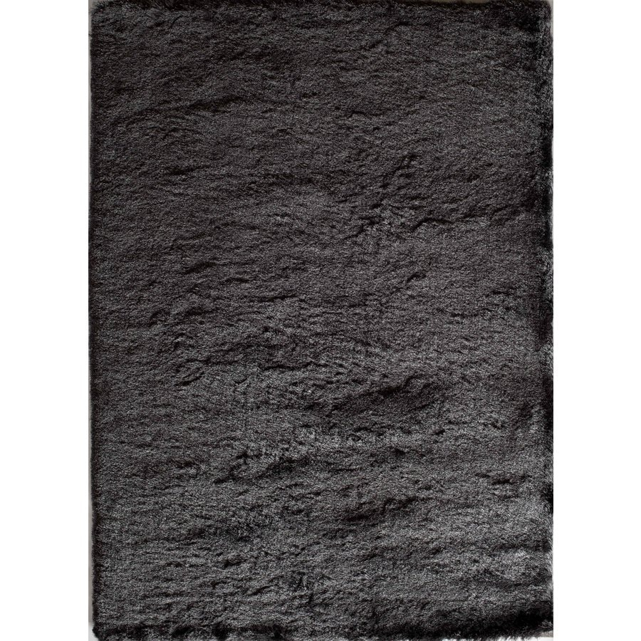 Rugs America Luster Shag Charcoal Rectangular Indoor Tufted Area Rug (Common: 5 x 7; Actual: 60-in W x 84-in L)