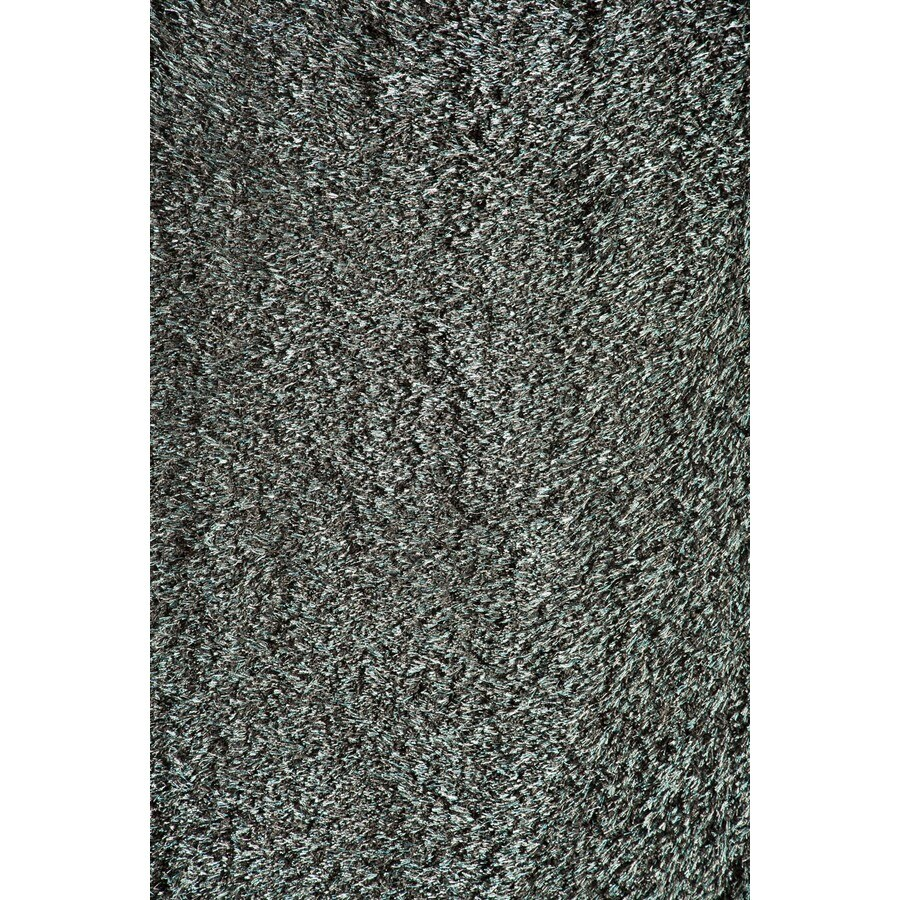 Rugs America Miami Turquoise Gray Rectangular Indoor Woven Area Rug (Common: 5 x 8; Actual: 63-in W x 94-in L)