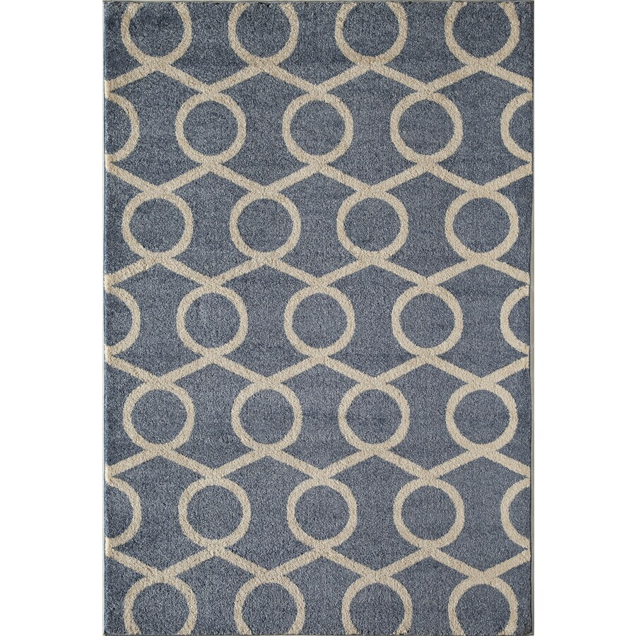 Rugs America Hudson Blue Links Rectangular Indoor Woven Area Rug (Common: 5 x 8; Actual: 63-in W x 94-in L)