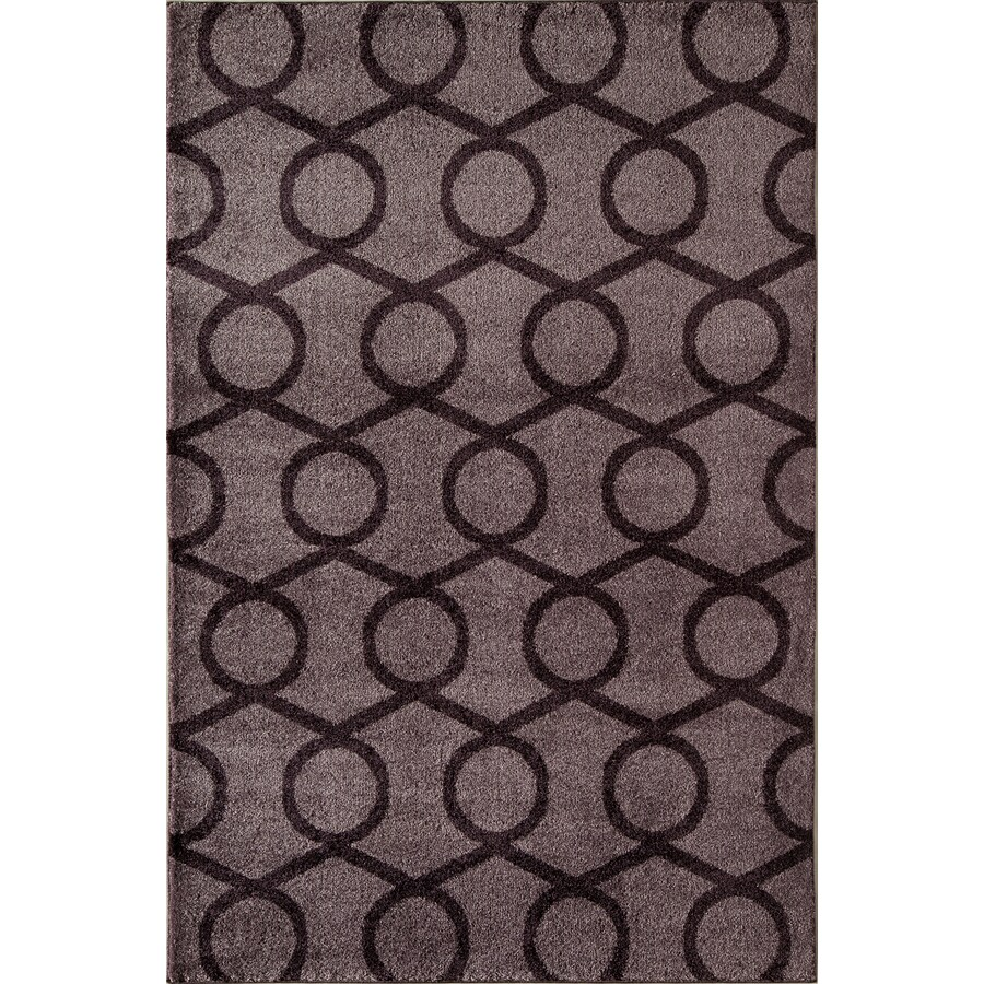 Rugs America Hudson Lavender Links Rectangular Indoor Woven Area Rug (Common: 5 x 8; Actual: 63-in W x 94-in L)