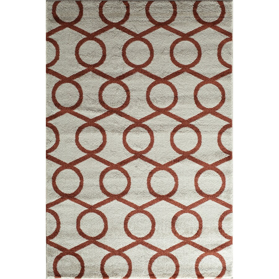 Rugs America Hudson Terracotta Links Rectangular Indoor Woven Area Rug (Common: 5 x 8; Actual: 63-in W x 94-in L)