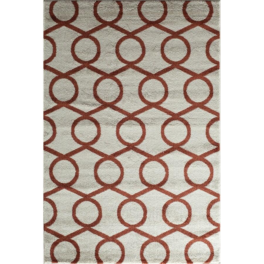 Rugs America Hudson Terracotta Links Rectangular Indoor Woven Throw Rug (Common: 2 x 3; Actual: 24-in W x 35-in L)