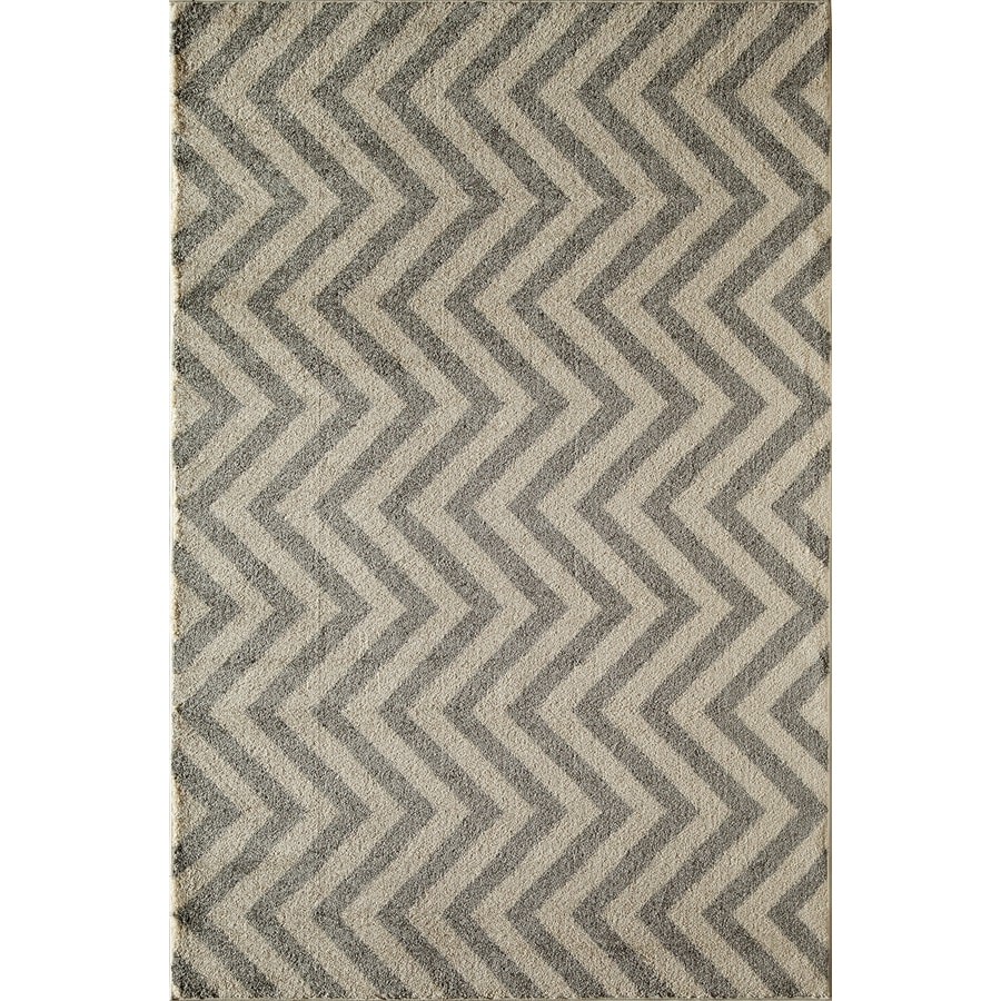 Rugs America Hudson Slate Linen Rectangular Indoor Woven Area Rug (Common: 5 x 8; Actual: 63-in W x 94-in L)