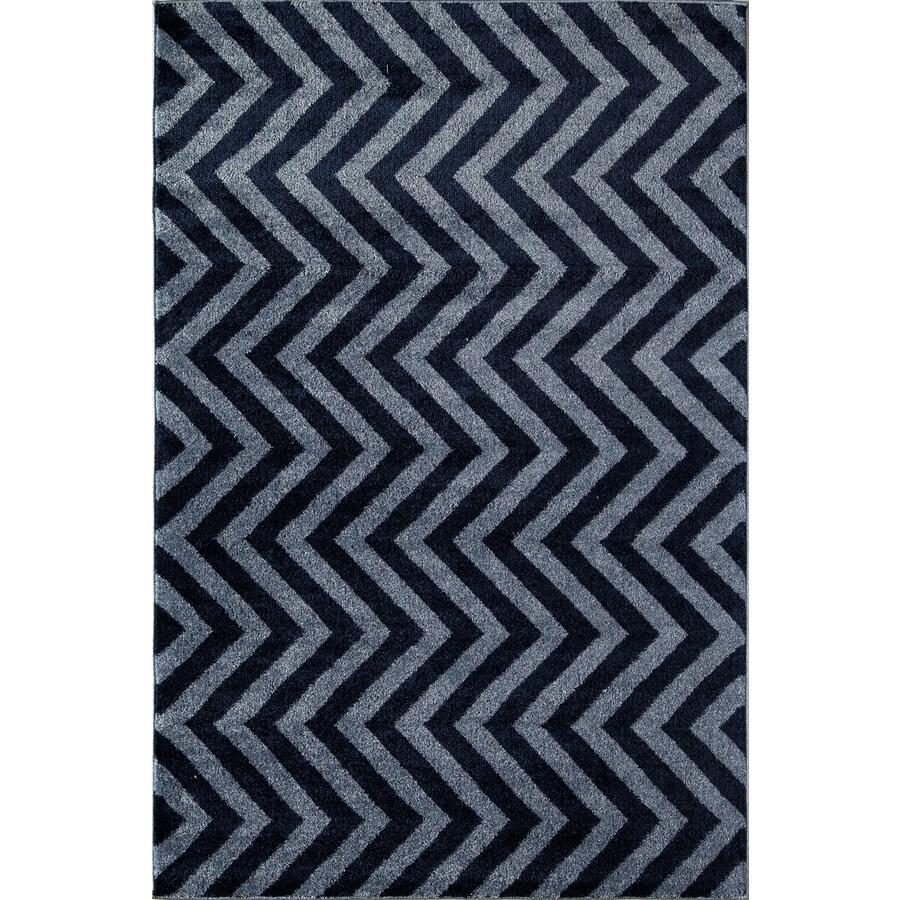 Rugs America Hudson Blue Linen Rectangular Indoor Woven Area Rug (Common: 5 x 8; Actual: 63-in W x 94-in L)