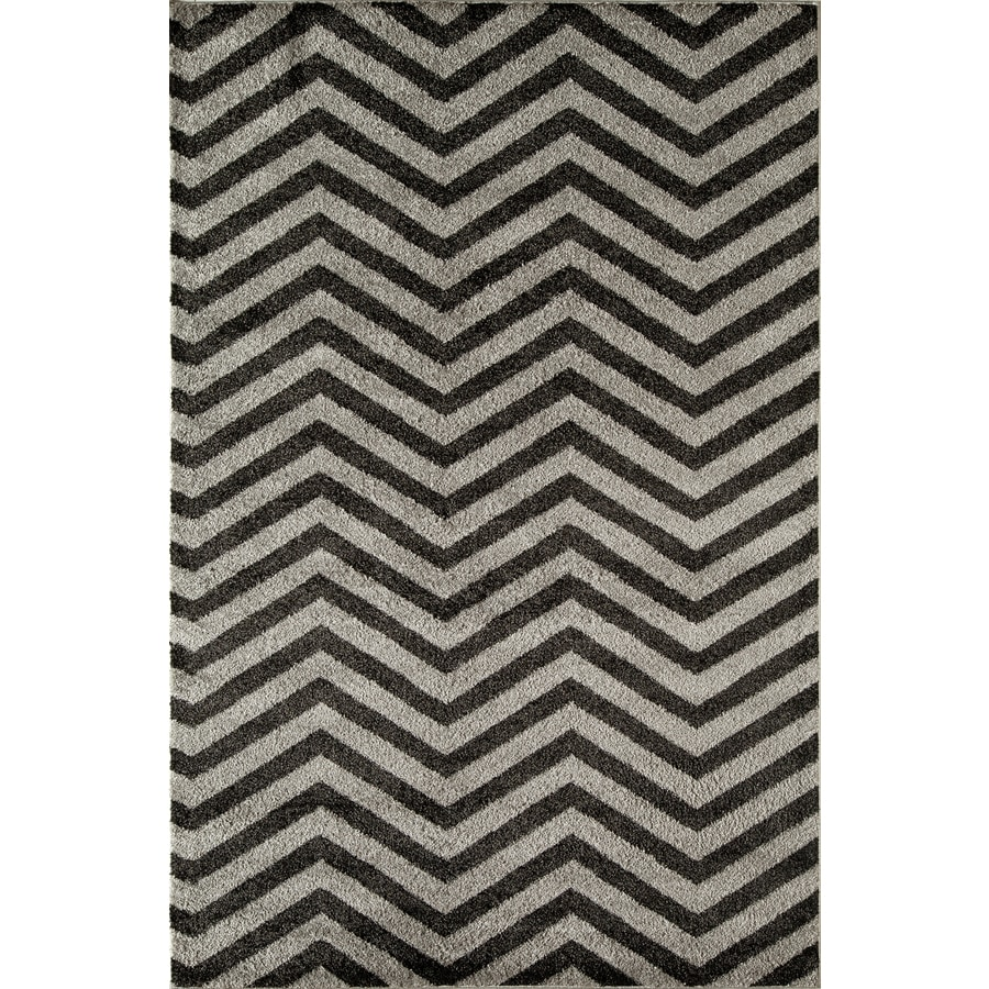 Rugs America Hudson Slate Chevron Rectangular Indoor Woven Area Rug (Common: 5 x 8; Actual: 63-in W x 94-in L)