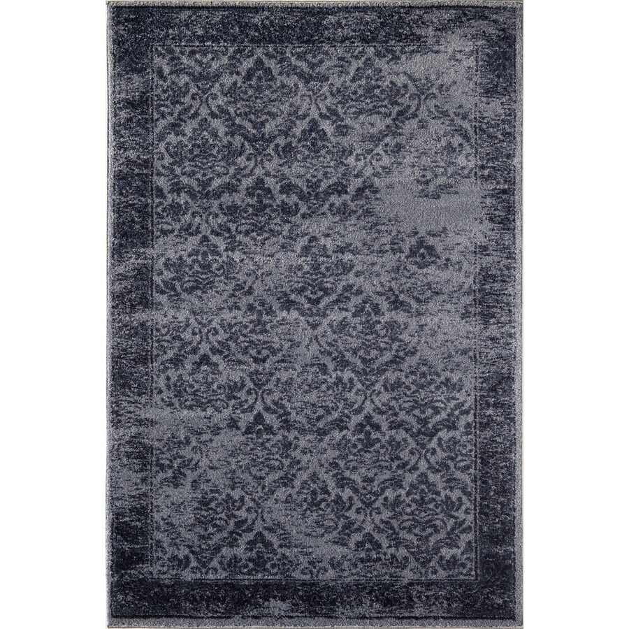 Rugs America Hudson Blue Vintage Rectangular Indoor Woven Area Rug (Common: 5 x 8; Actual: 63-in W x 94-in L)