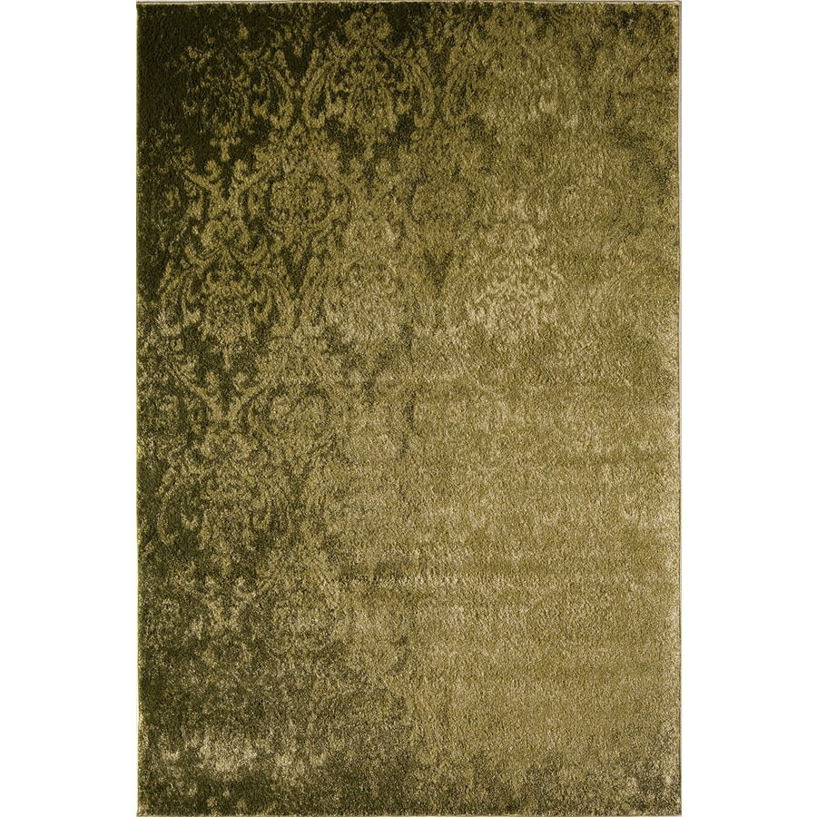 Rugs America Hudson Green Damask Rectangular Indoor Woven Area Rug (Common: 5 x 8; Actual: 63-in W x 94-in L)