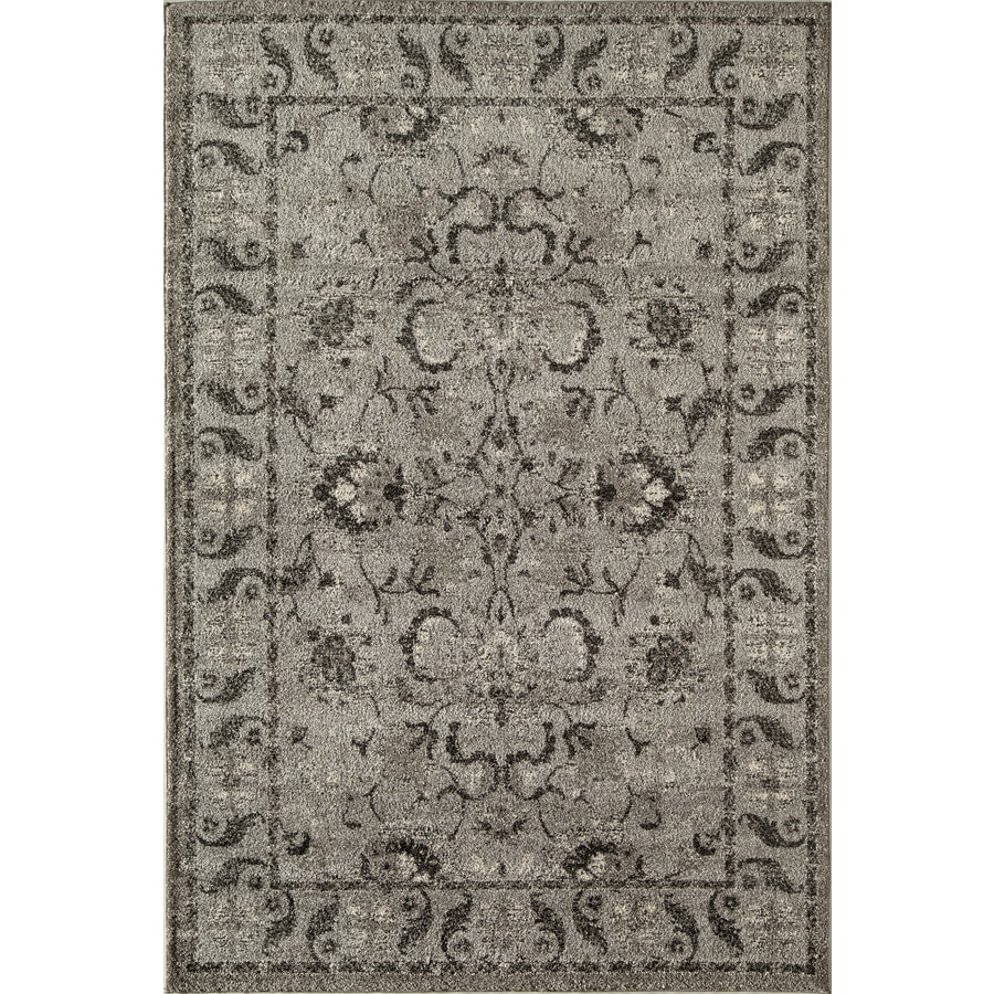 Rugs America Hudson Slate Field Rectangular Indoor Woven Area Rug (Common: 5 x 8; Actual: 63-in W x 94-in L)