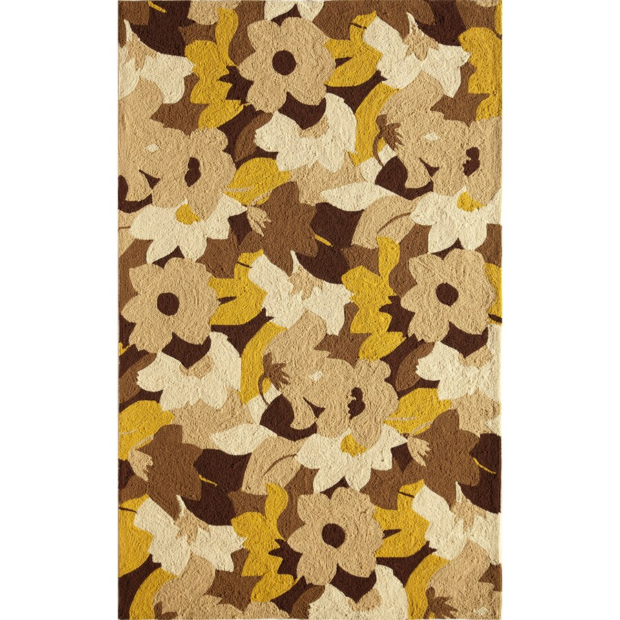 Rugs America Lenai Fall Foliage Rectangular Indoor and Outdoor Hand-Hooked Area Rug (Common: 8 x 10; Actual: 90-in W x 114-in L)