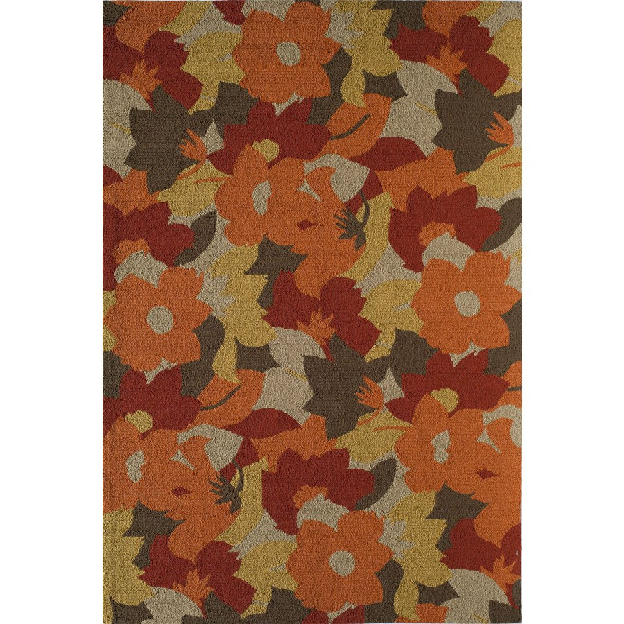 Shop Rugs America Lenai Spring Foliage Round Indoor And Outdoor Hand Hooked A